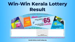 Win-Win Kerala Lottery Result Today