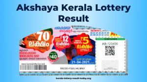 Akshaya Kerala Lottery Result