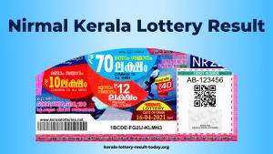 Nirmal Kerala Lottery Result Today