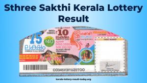 Sthree Sakthi Kerala Lottery Result