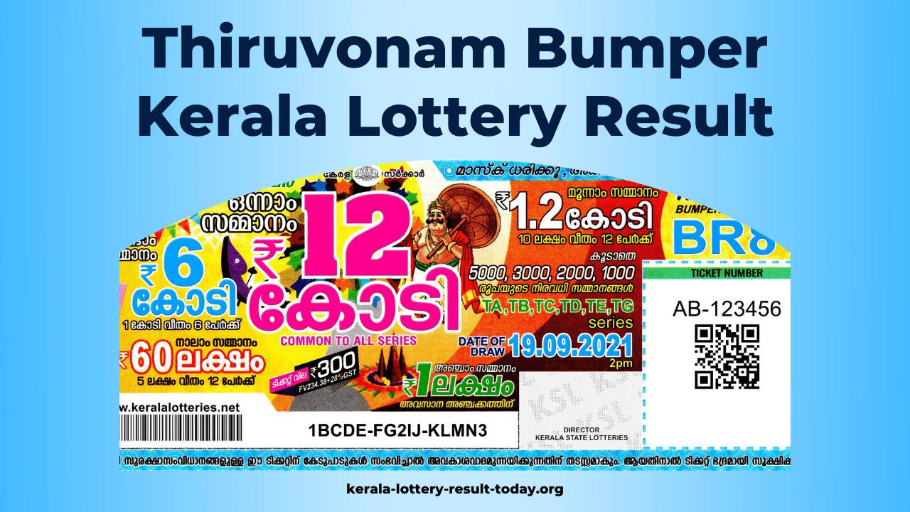Thiruvonam Bumper Kerala Lottery Result